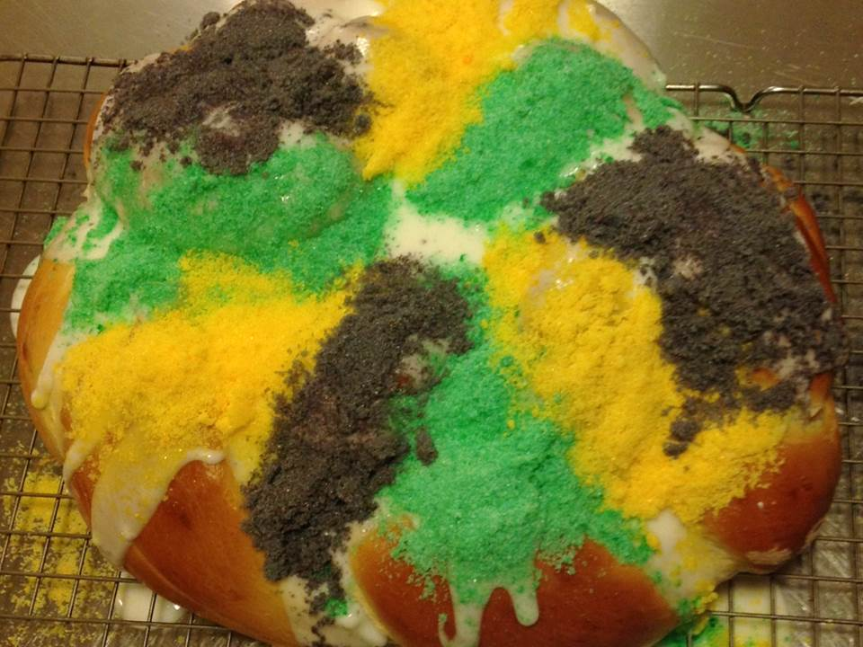 King Cake Made With Brioche Dough